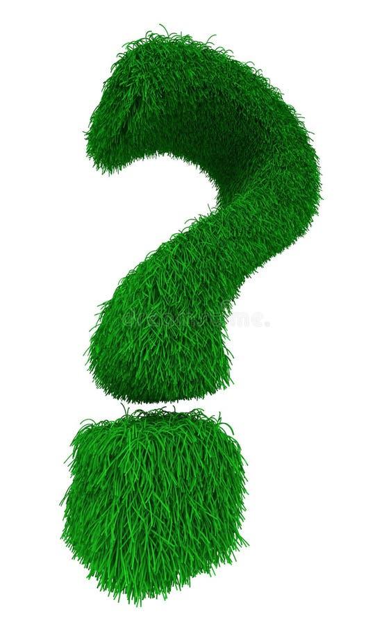 πράσινη ερώτηση σημαδιών στοκ εικόνα με δικαίωμα ελεύθερης χρήσης