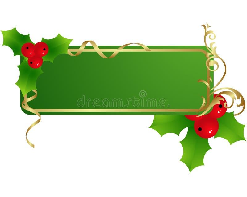 πράσινη ετικέτα Χριστουγέ&n απεικόνιση αποθεμάτων