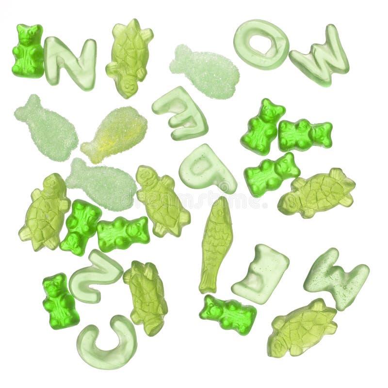 πράσινη ζελατίνα καραμελών δονούμενη στοκ φωτογραφία με δικαίωμα ελεύθερης χρήσης