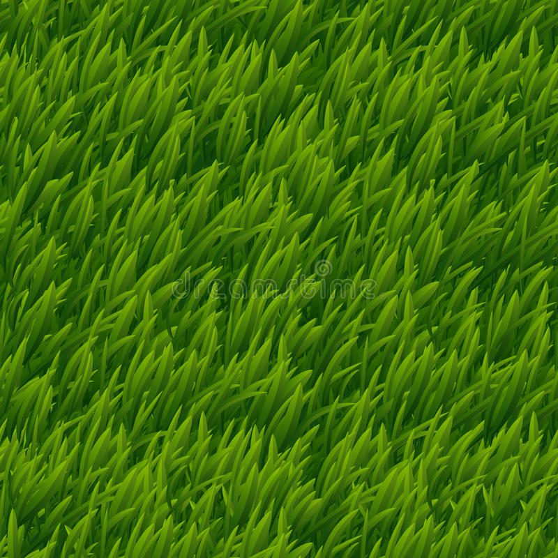 Πράσινη διανυσματική άνευ ραφής σύσταση χλόης απεικόνιση αποθεμάτων