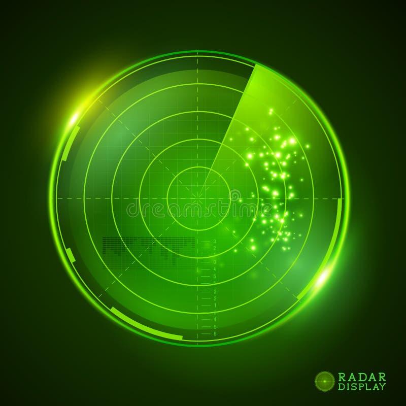 Πράσινη διανυσματική επίδειξη ραντάρ απεικόνιση αποθεμάτων