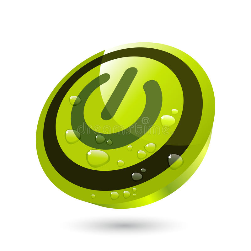πράσινη ισχύς κουμπιών διανυσματική απεικόνιση