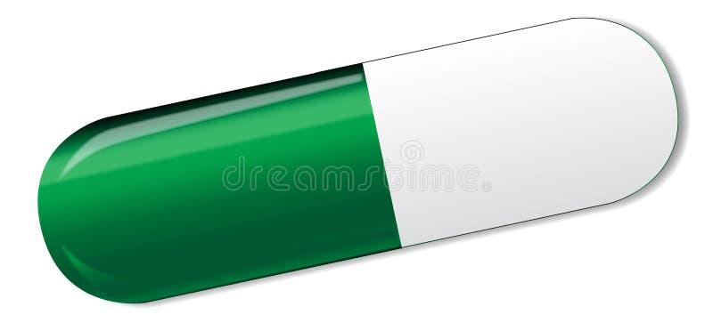 Πράσινη και άσπρη κάψα απεικόνιση αποθεμάτων