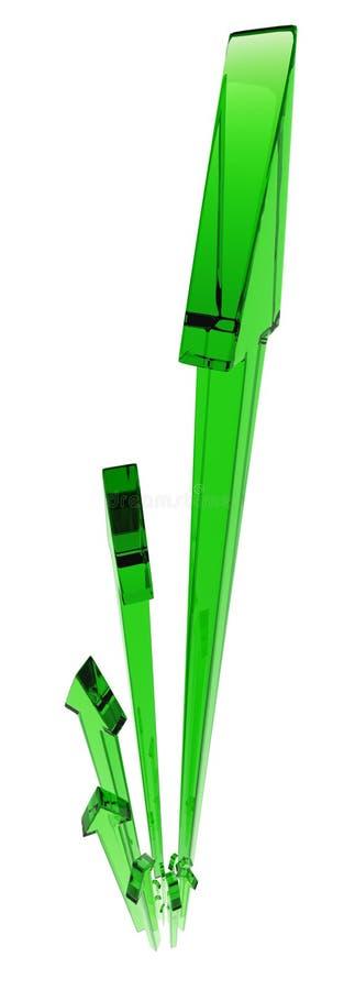 πράσινη κατακόρυφος ανάπτ&upsi απεικόνιση αποθεμάτων
