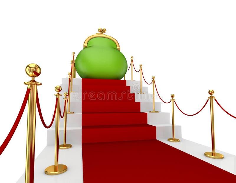 πράσινη κόκκινη σκάλα πορτ&omi στοκ εικόνες με δικαίωμα ελεύθερης χρήσης