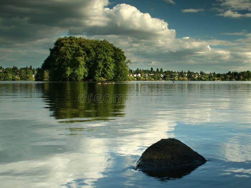 πράσινη λίμνη Σιάτλ στοκ φωτογραφία