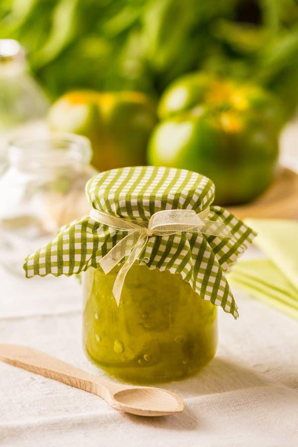 Πράσινη μαρμελάδα ντοματών στοκ εικόνα με δικαίωμα ελεύθερης χρήσης