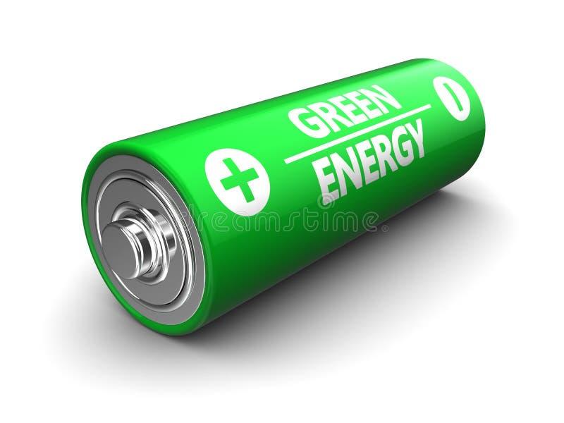 Πράσινη μπαταρία διανυσματική απεικόνιση