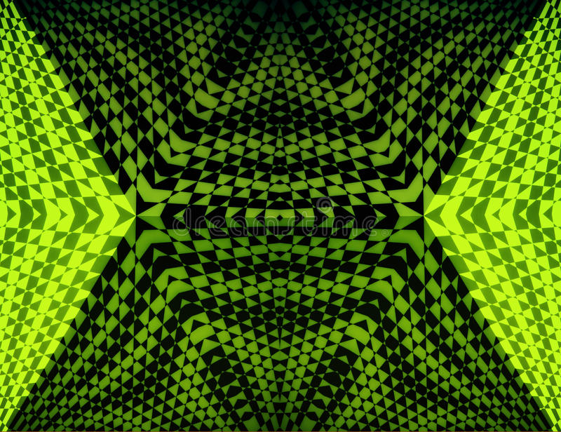 Πράσινη οπτική παραίσθηση τριγώνων ελεύθερη απεικόνιση δικαιώματος