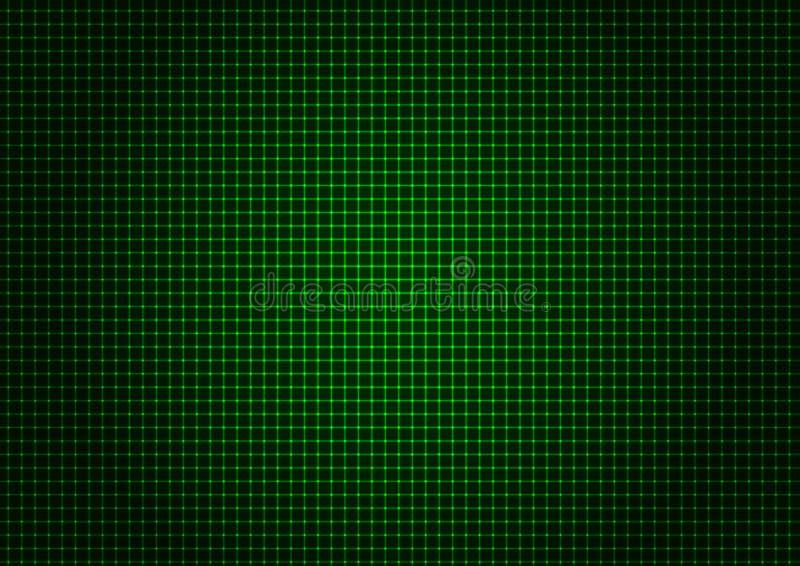 Πράσινη οριζόντια κατακόρυφος πλέγματος λέιζερ διανυσματική απεικόνιση