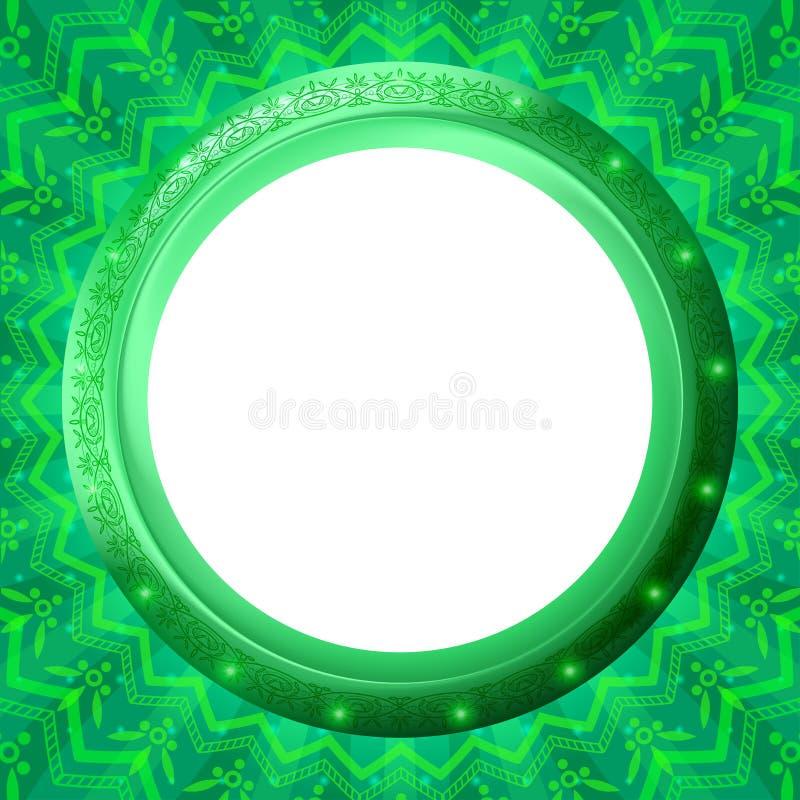 πράσινη παραφωτίδα γυαλι&omi διανυσματική απεικόνιση