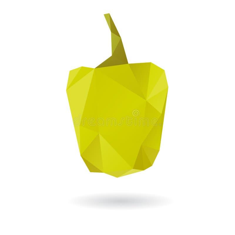 Πράσινη περίληψη πιπεριών που απομονώνεται σε ένα άσπρο backgrou απεικόνιση αποθεμάτων