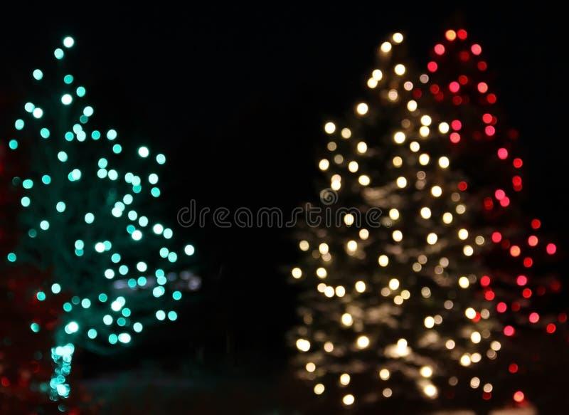 Πράσινη περίληψη χριστουγεννιάτικων δέντρων κόκκινου φωτός διακοπών στοκ εικόνα με δικαίωμα ελεύθερης χρήσης