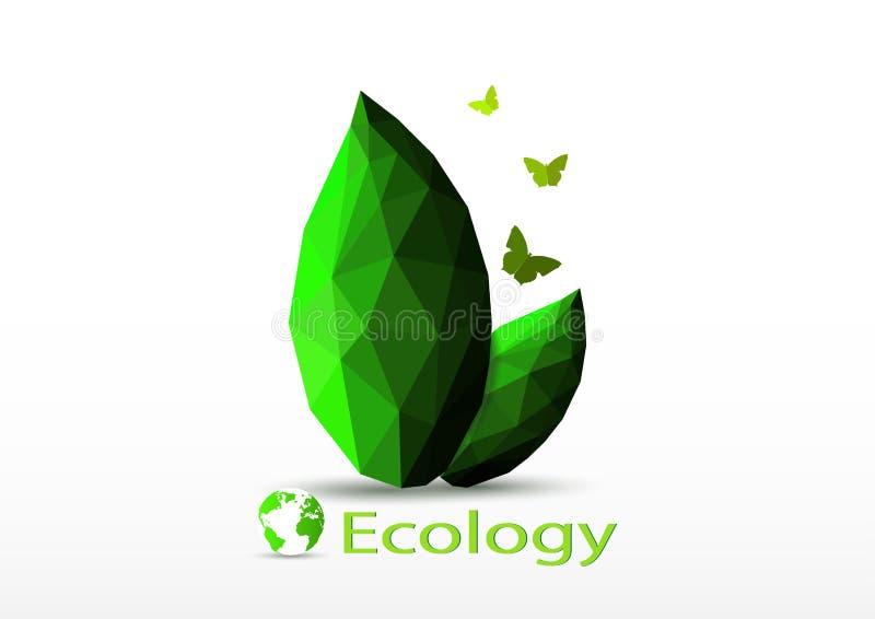 Πράσινη περιβαλλοντική έννοια παγκόσμιας οικολογίας ελεύθερη απεικόνιση δικαιώματος