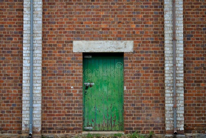 Πράσινη πόρτα στοκ φωτογραφία