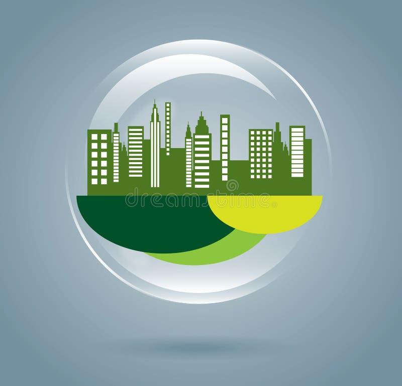Πράσινη πόλη διανυσματική απεικόνιση