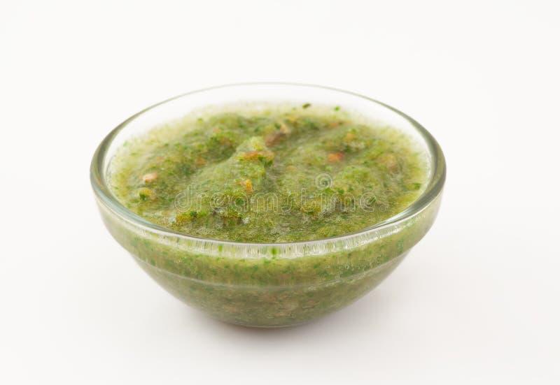 Πράσινη σάλτσα κορίανδρου στοκ φωτογραφίες