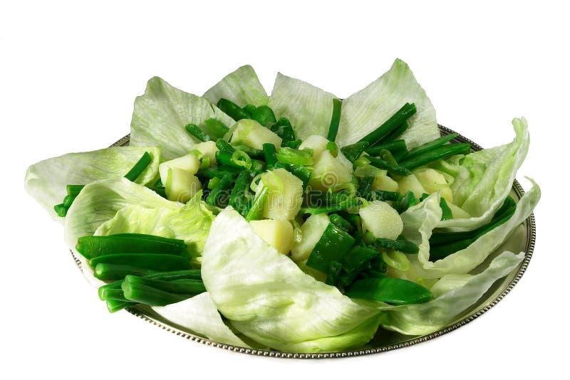 πράσινη σαλάτα πατατών φασολιών στοκ φωτογραφία με δικαίωμα ελεύθερης χρήσης