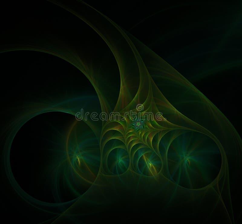 Πράσινη σπειροειδής fractal εικόνα διανυσματική απεικόνιση