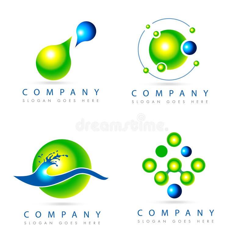 Πράσινη συλλογή λογότυπων ελεύθερη απεικόνιση δικαιώματος