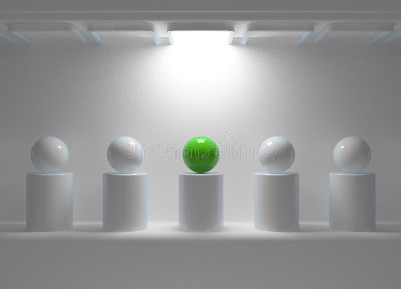 πράσινη σφαίρα ηγεσίας έννο& απεικόνιση αποθεμάτων