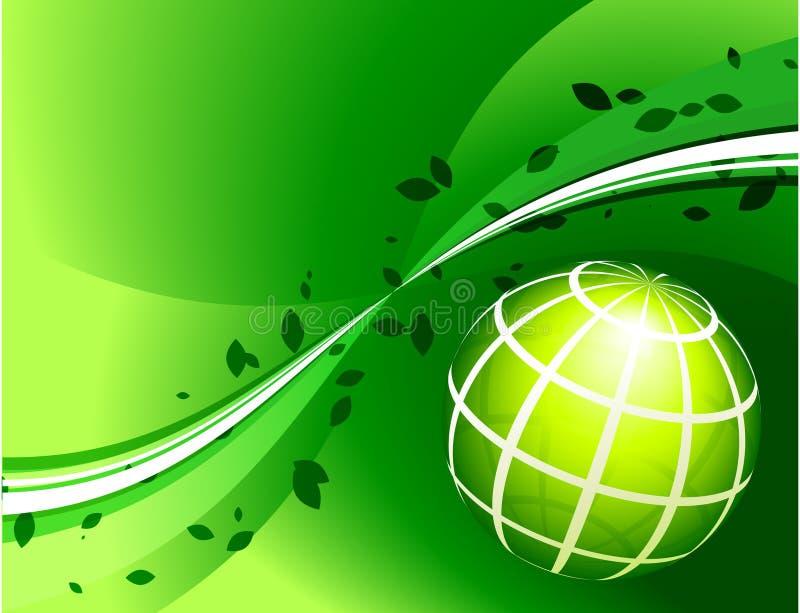 Πράσινη σφαίρα στο πράσινο υπόβαθρο ελεύθερη απεικόνιση δικαιώματος