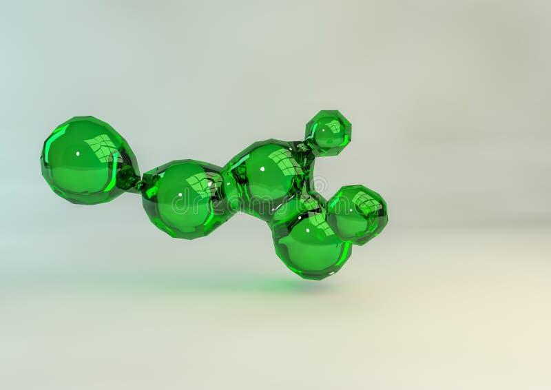 Πράσινη σύνδεση γυαλιού στοκ εικόνες με δικαίωμα ελεύθερης χρήσης