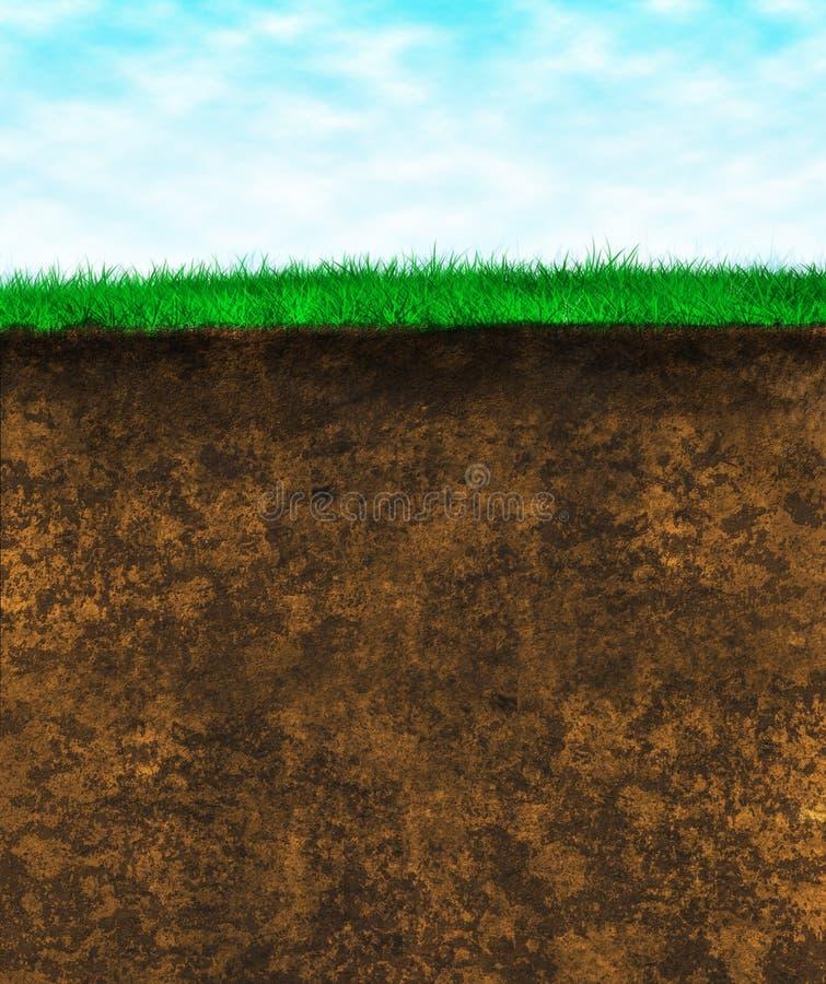πράσινη σύσταση εδαφολογικής επιφάνειας χλόης διανυσματική απεικόνιση