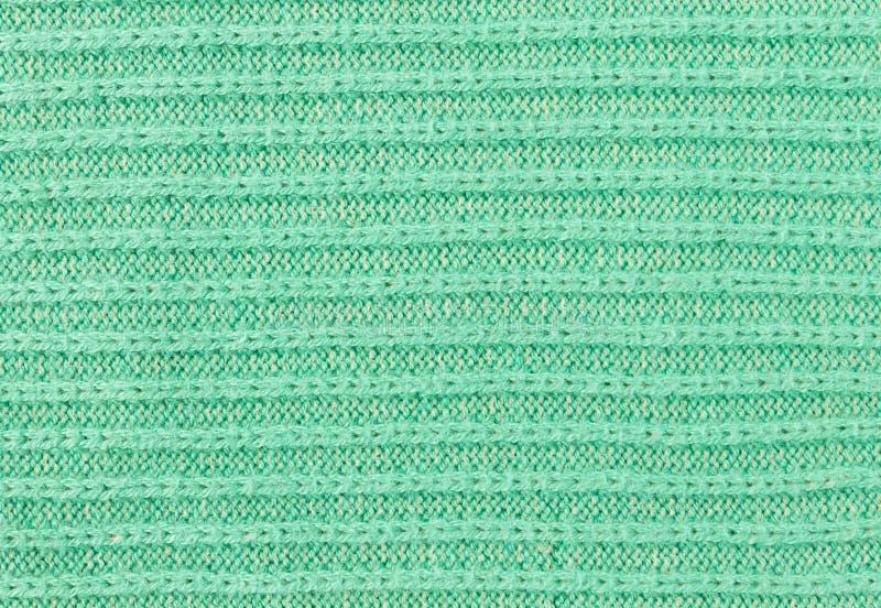 Πράσινη σύσταση πλεξίματος ή πλεκτό υπόβαθρο σύστασης στοκ εικόνα με δικαίωμα ελεύθερης χρήσης