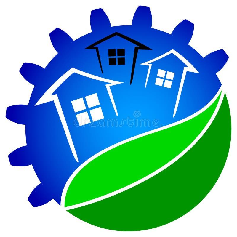 Πράσινη τεχνολογία σπιτιών διανυσματική απεικόνιση