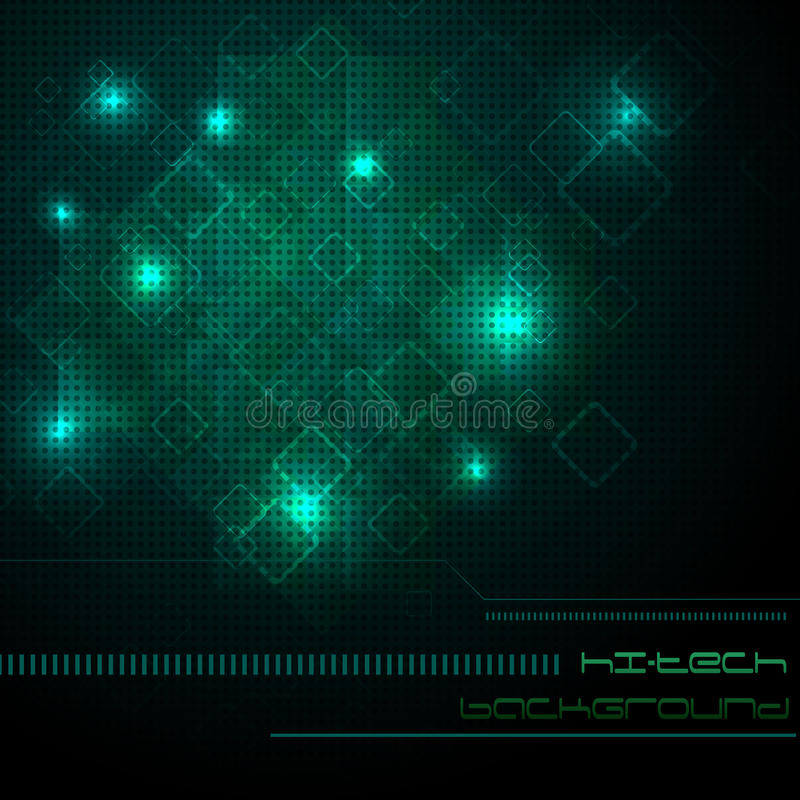 πράσινη υψηλή τεχνολογία ανασκόπησης ελεύθερη απεικόνιση δικαιώματος