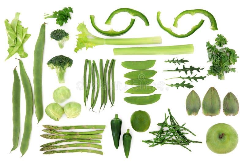 Πράσινη φυτική επιλογή τροφίμων στοκ εικόνες