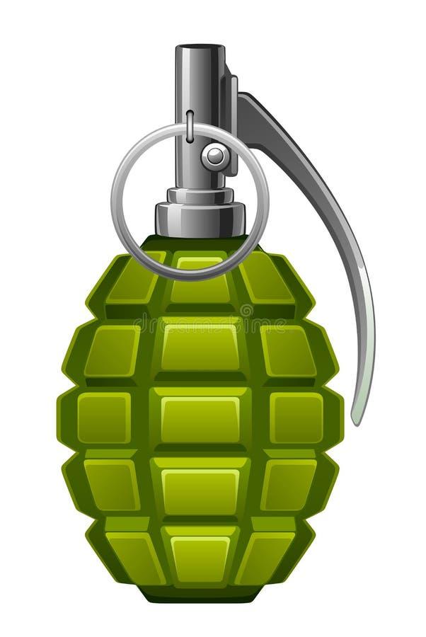 πράσινη χειροβομβίδα απεικόνιση αποθεμάτων