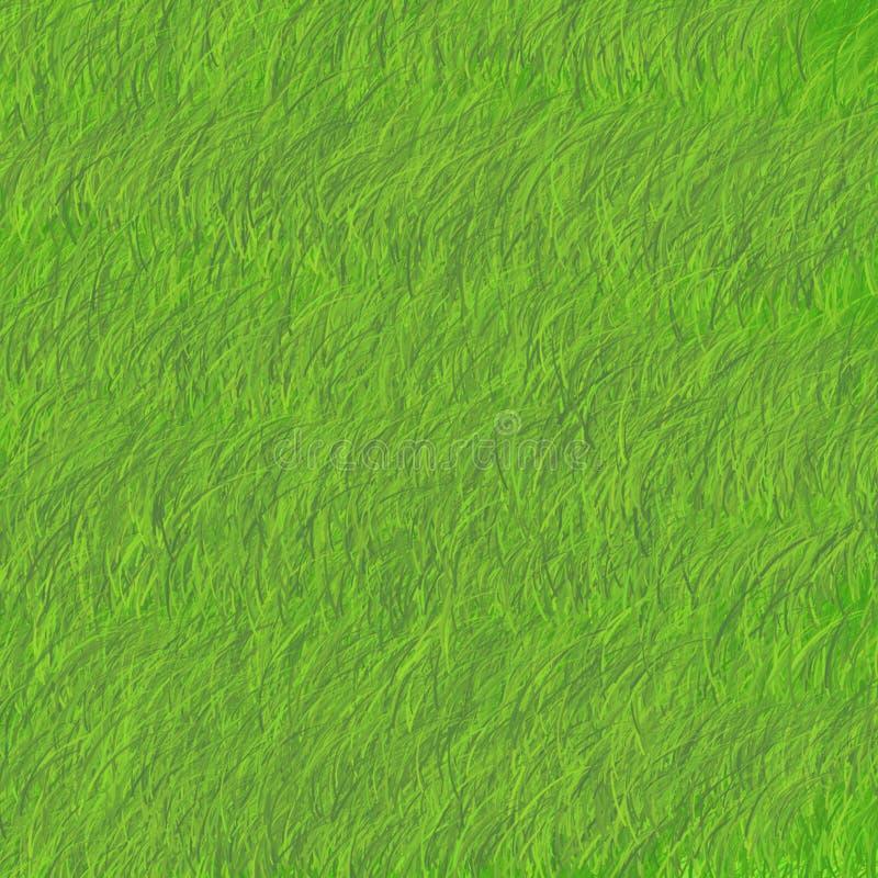 Πράσινη χλόη που γέρνουν στο δικαίωμα φωτεινό απεικόνιση αποθεμάτων