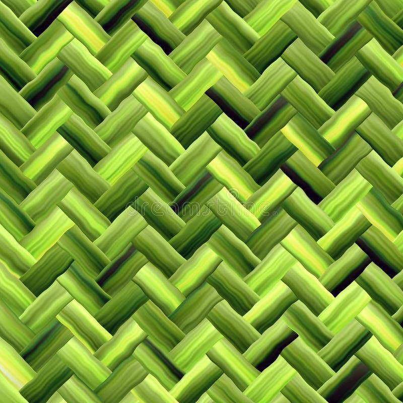 πράσινη ύφανση καλαθιών απεικόνιση αποθεμάτων