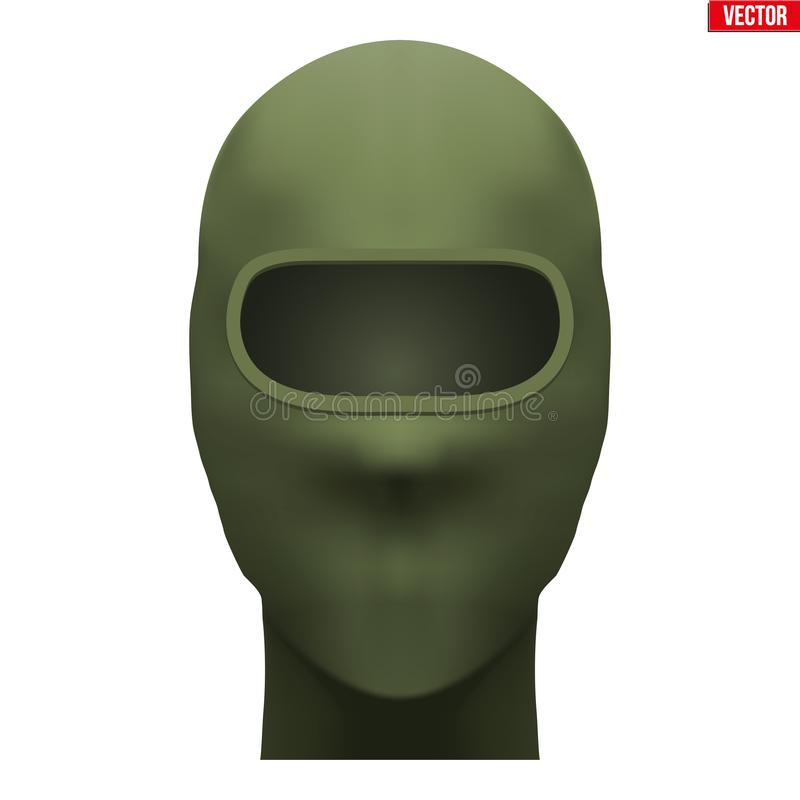 Πράσινη Balaclava μάσκα κυνηγών απεικόνιση αποθεμάτων