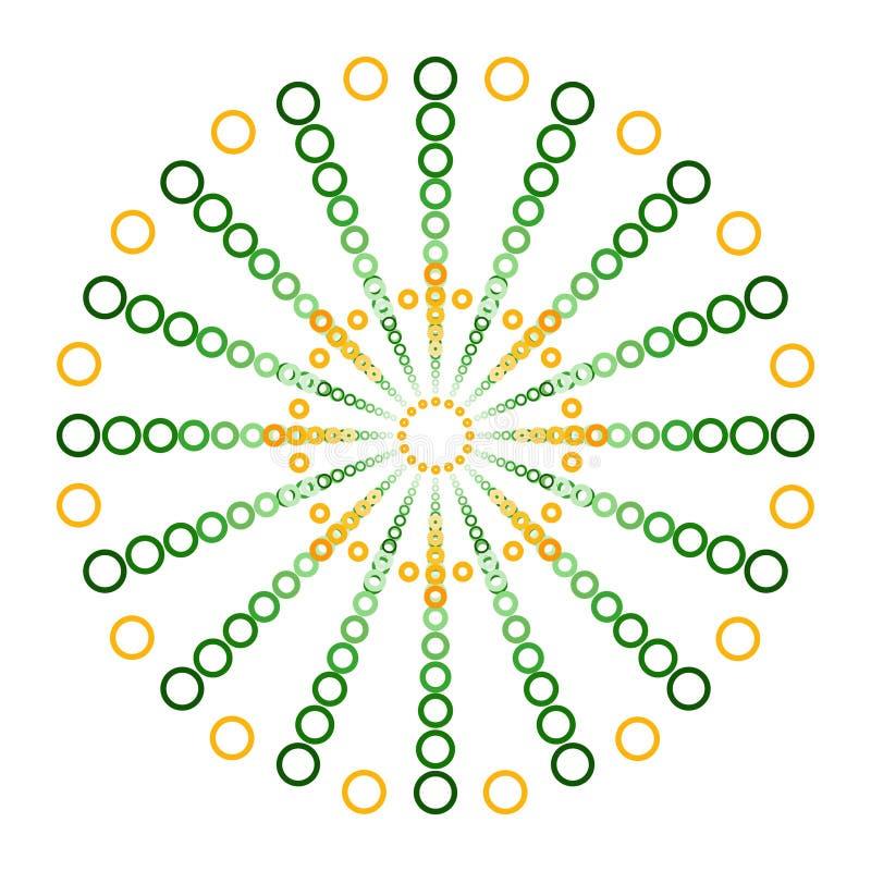 Πράσινοι και πορτοκαλιοί κύκλοι σε ένα σχέδιο λογότυπων σφαιρών ελεύθερη απεικόνιση δικαιώματος