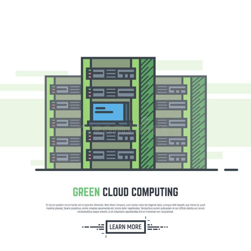 Πράσινοι κεντρικοί υπολογιστές σύννεφων ελεύθερη απεικόνιση δικαιώματος