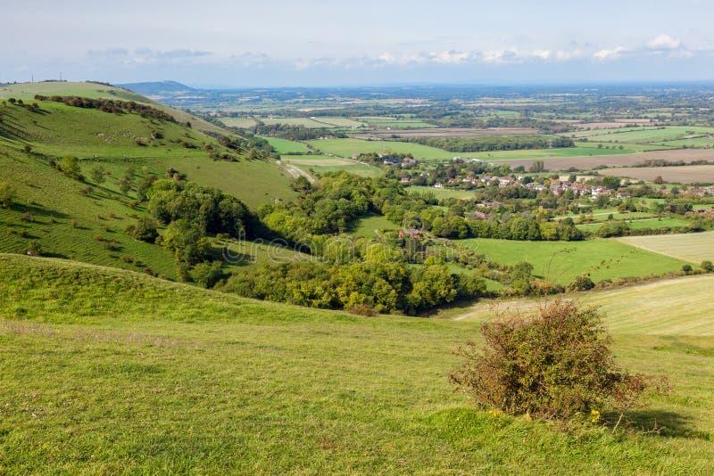 Πράσινοι κυματιστοί λόφοι του Σάσσεξ στοκ εικόνα με δικαίωμα ελεύθερης χρήσης