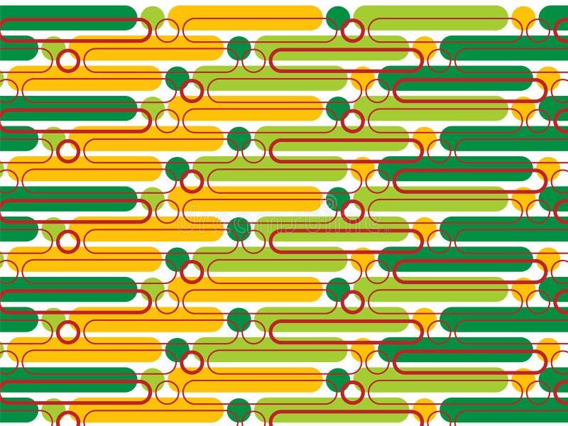 πράσινοι λοβοί σημείων κίτρινοι διανυσματική απεικόνιση