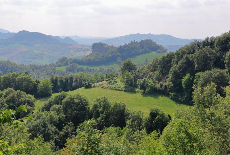 Πράσινοι λόφοι στην Τοσκάνη στοκ εικόνες με δικαίωμα ελεύθερης χρήσης