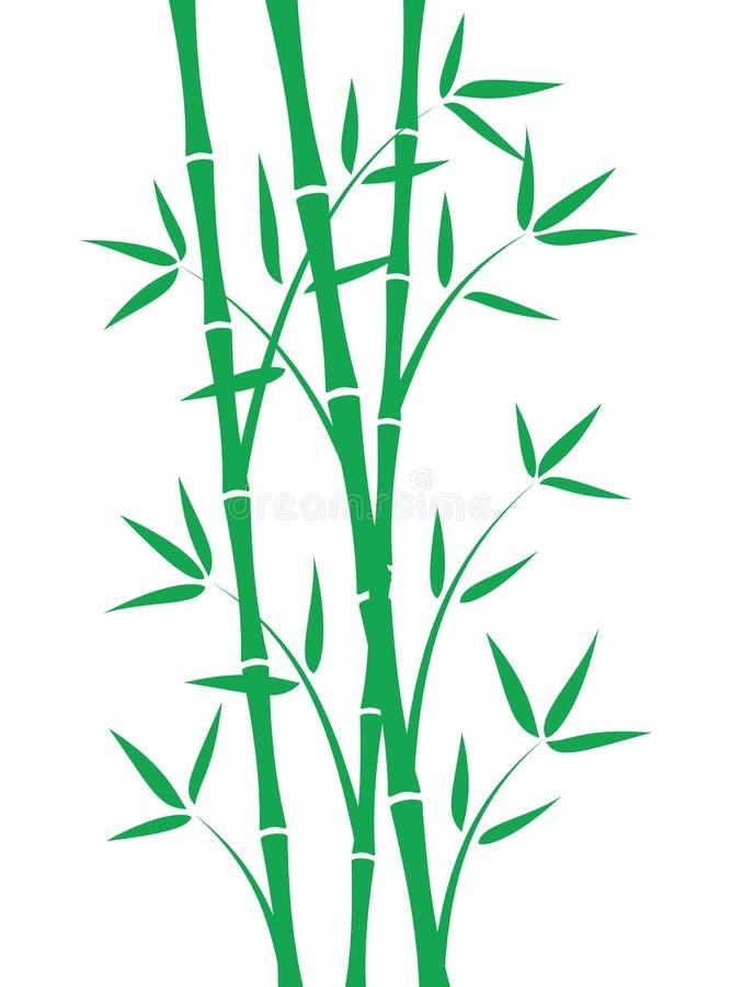 πράσινοι μίσχοι μπαμπού απεικόνιση αποθεμάτων