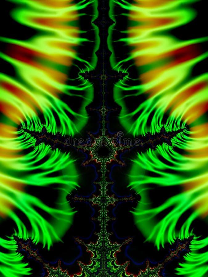 Πράσινοι Fractals στρόβιλοι στοκ εικόνες