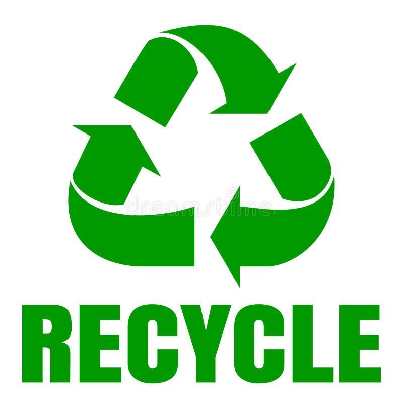 πράσινος ανακύκλωσης σημάδι ανακύκλωσης Ανακύκλωση αποβλήτων ελεύθερη απεικόνιση δικαιώματος