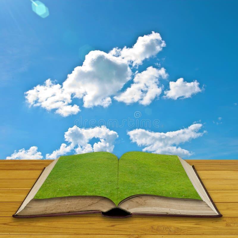 πράσινος ανοικτός βιβλίων στοκ εικόνα