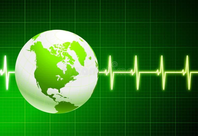 πράσινος απλός σφαιρών καρ& απεικόνιση αποθεμάτων