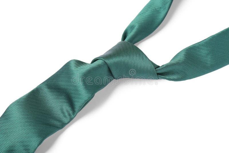 Πράσινος αρσενικός δεσμός που απομονώνεται στο λευκό στοκ εικόνες με δικαίωμα ελεύθερης χρήσης