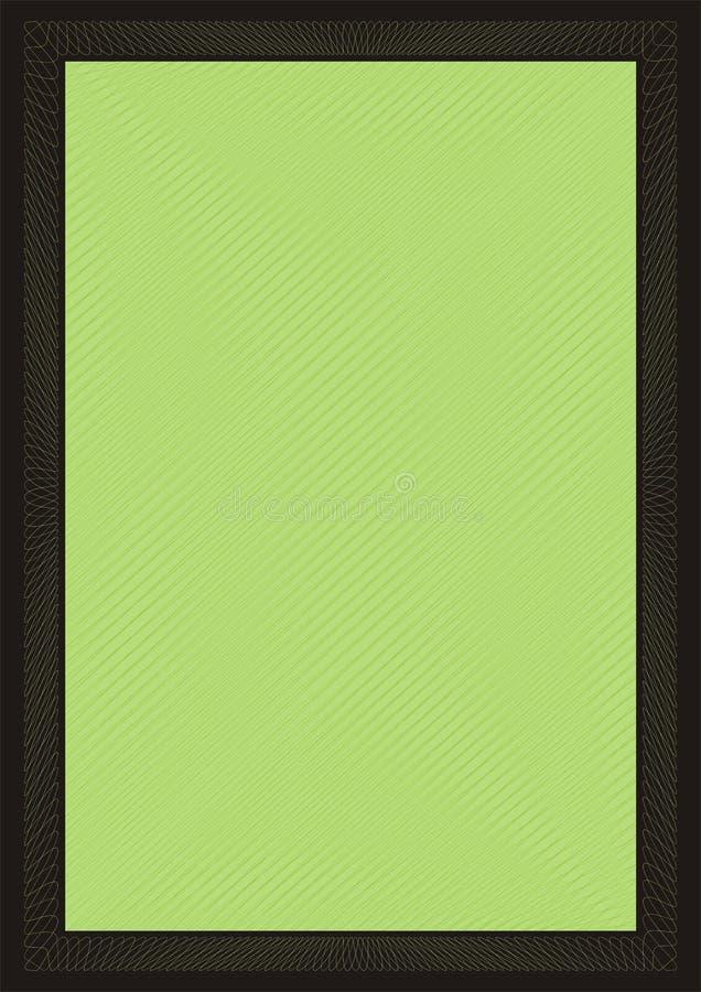 πράσινος ασφαλής πλαισίω& διανυσματική απεικόνιση