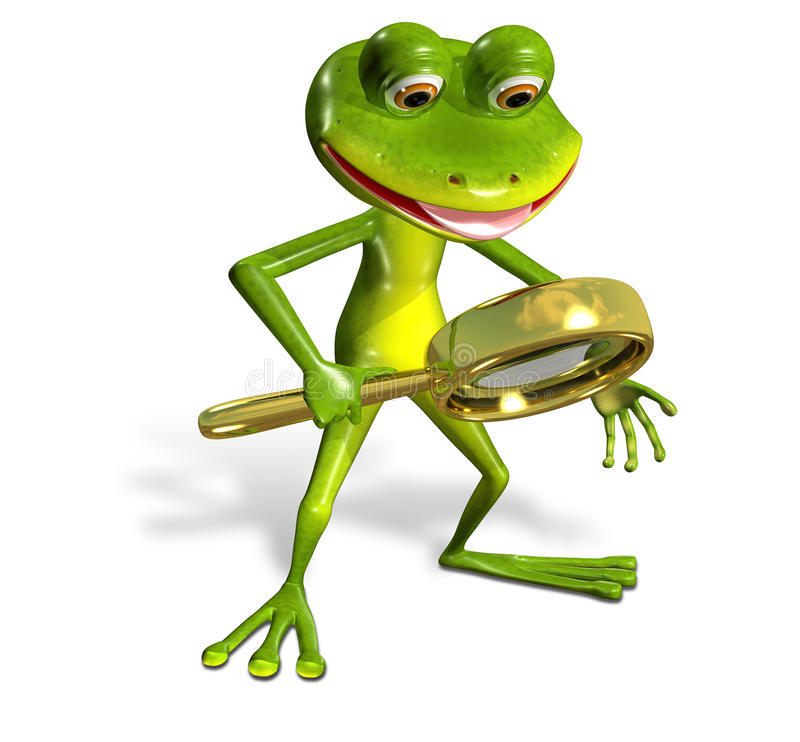 Πράσινος βάτραχος με την ενίσχυση απεικόνιση αποθεμάτων