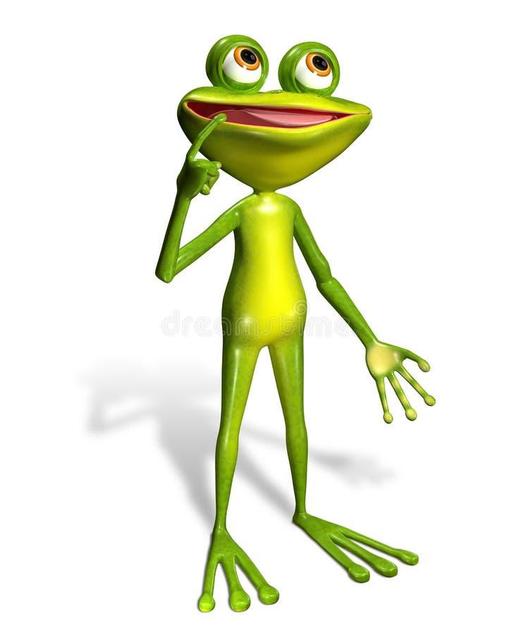 Πράσινος βάτραχος διανυσματική απεικόνιση